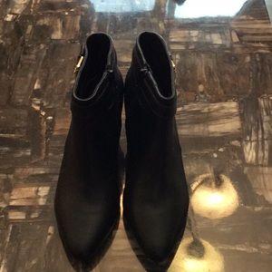 Ralph Lauren Black Leather Boots